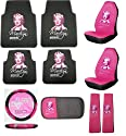 Marilyn Monroe 10pc Auto Accessories Combo Set
