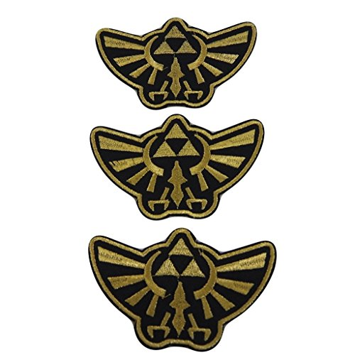 the-legend-of-zelda-series-trifoce-crest-gold-and-black-embroidered-patch-decorative-applique-set-of