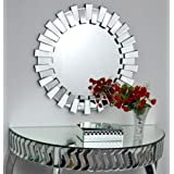 Venetian Design Mingling Slats Wall Mirror