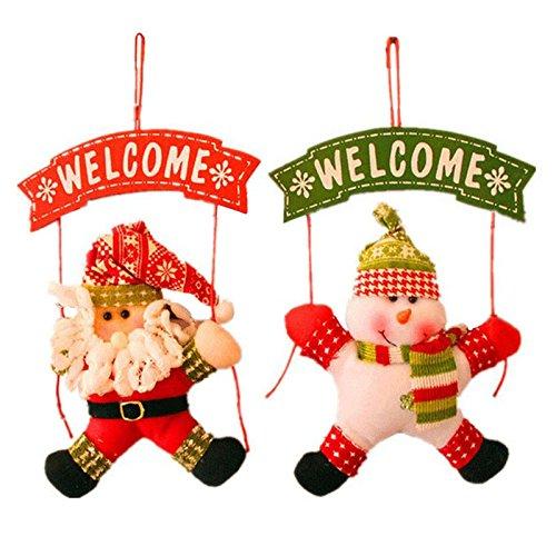(2pcs./1set) 2020CM, Xmas Hanging Decor Christmas Tree Door Doll Ornament Decor Hanging Pendant