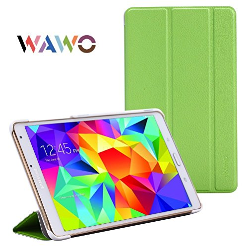 Wawo Creative Smart Tri-Fold Cover Case For Samsung Galaxy Tab S 8.4-Inch Tablet - Green front-1051224