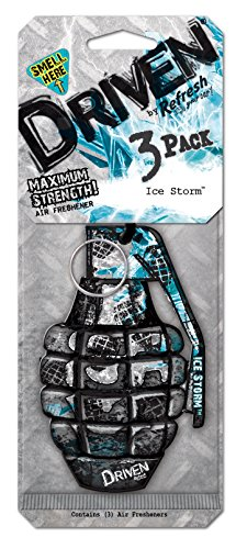 Driven by Refresh Your Car! 75108 Scented Paper, 3 Per Pack, Ice Storm (Ice Storm Air Freshener compare prices)