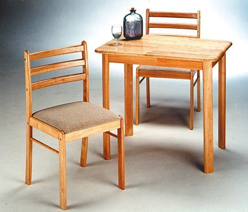black friday 3 pc wooden natural dining set 1 table 2 chairs cyber