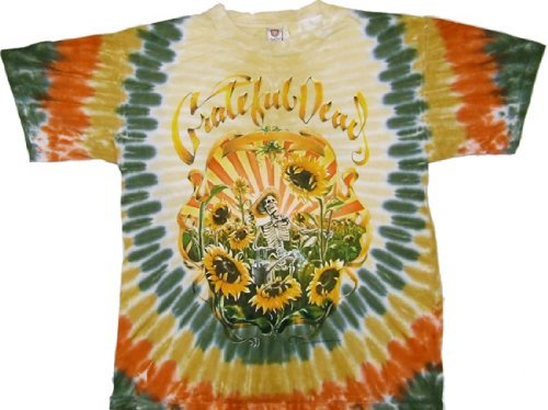 Tie Dyed Shop Grateful Dead Sunflower Tie Dye T-Shirt-Longsleeve-Xlarge-Multicolor front-329368