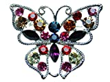 Vivid Colorful Crystal Rhinestone Butterfly Pin Brooch