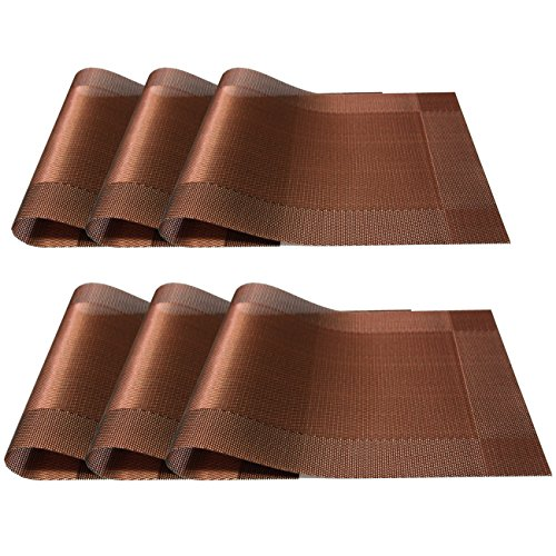 6 Pcs Kitchen Pvc Placemats Deluxe Heat Insulation Stain