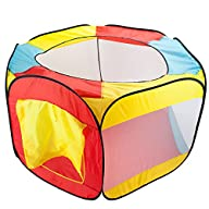 Hexagon Pop Up Ball Pit Tent with Mes…