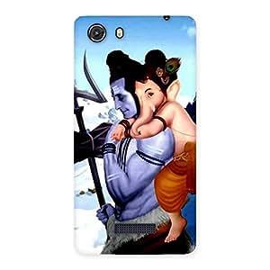 Impressive Bholenath And Ganesha Multicolor Back Case Cover for Micromax Unite 3
