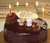 誕生日ケーキ/バースデーケーキ/飾り付き/チョコレートケーキ5号