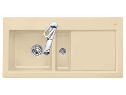 Villeroy Boch &the Subway 60 Ceramic Sink Sand Beige Inset Mounting Kitchen Spule