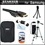 """Starter Accessories Kit For The Samsung MV800 MultiView Digital Camera Includes Deluxe Carrying Case + 50"""" Tripod With Case + Micro HDMI Cable + LCD Screen Protectors + Mini TableTop Tripod + MicroFiber Cleaning Cloth"""