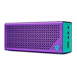 The Crasher by JLab Loud Portable Bluetooth Stereo Speaker with 18 Hour Battery - Miami Purple / Mint