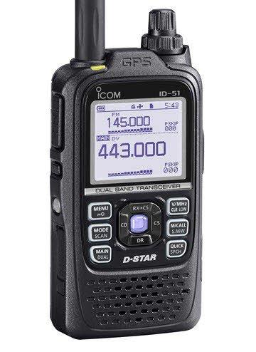 Icom ID-51A Dual Band D-Star Amateur Ham Radio
