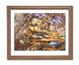 Paul Cezanne French Lake Trees Tuscan Landscape Home Decor Wall Picture Oak Framed Art Print