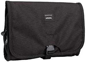 Crumpler The Dry Red No. 1 Travel Toiletry Bag and Shaving Kit, Black, One Size