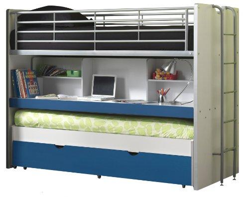 Vipack Lit mezzanine Bonny 80 - bleu