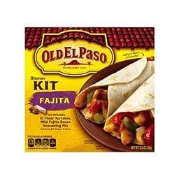 Old El Paso Fajita Dinner Kit with 10 Flour Tortillas 12.5 oz (Pack of 12)