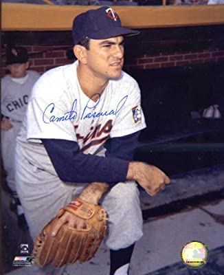 Camilo Pascual Autographed/ Original Signed 8x10 Color Photo Showing Him w/ the Minnesota Twins