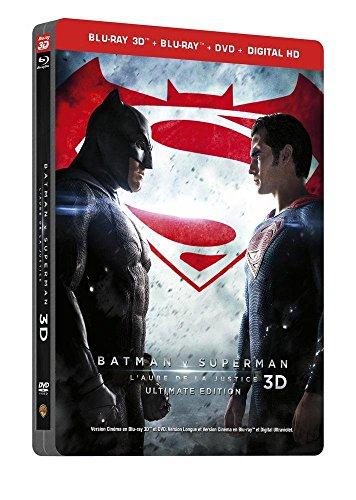 Batman V Superman : L'aube De La Justice - Steelbook Ultimate Édition - Blu-Ray 3d + Blu-Ray + Dvd + Copie Digitale