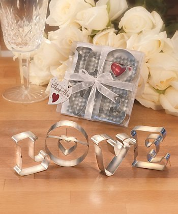 &quot;LOVE&quot; Cookie Cutter Wedding Favors, 30