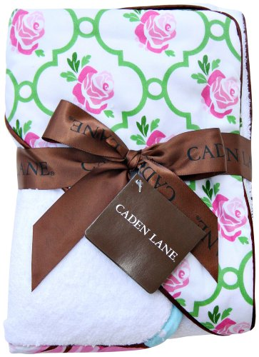 Caden Lane Boutique Collection Hooded Towel Set, Rose Lattice, Infant