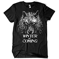 344-Camiseta Winter Is Coming (Fuacka) (Negro, M)