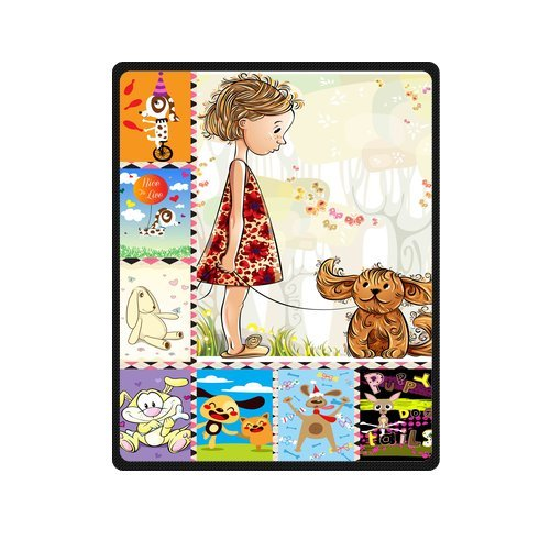 "Personalized Cute Dogs Jigsaw Blanket 40""X 50""(Small) front-820546"