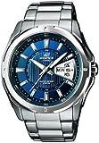CASIO EF-129D-2AVEF Edifice - Reloj de caballero de cuarzo, correa de acero inoxidable color varios colores (con luz)