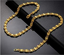 Magic Stones Brass 18 KT GOLD AND RHODIUM COATED CHAIN