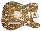 Telecaster Electric Guitar Body UNFINISHED Laser Etched Designs (Skulls, Basswood)