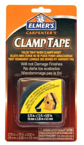 Elmer's E807 3/4-Inch by 7.5-Feet Carpenter Clamp Tape, Black