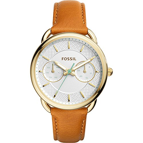fossil-womens-es4006-tailor-multifunction-dark-brown-leather-watch