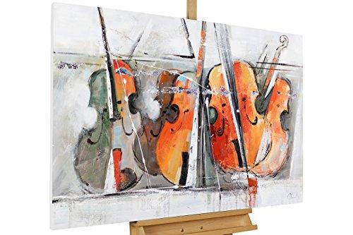 KunstLoft-Acryl-Gemlde-Quartett-der-Geigen-120x80cm-original-handgemalte-Leinwand-Bilder-XXL-Musik-Abstrakt-Geige-Violine-Bunt-Wandbild-Acrylbild-moderne-Kunst-einteilig-mit-Rahmen