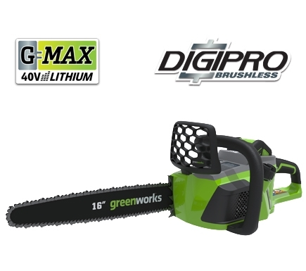 greenworks chainsaw inch 40v digipro cordless max battery 4ah saw charger why should pole amazon