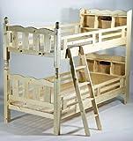 宮付き二段ベッド ライト付き 二段ベッド 2段ベッド シングルベッド すのこベッド 木製