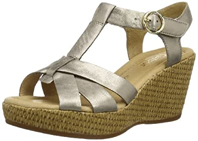 Gabor Shoes Gabor Comfort 82.842.62 Damen Clogs & Pantoletten, Silber (mutaro (gold)), EU 38 (UK 5) (US 7.5)
