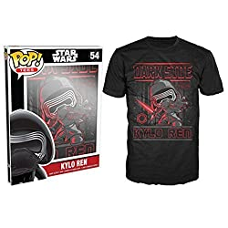 Funko Men's Pop! T-Shirts: Star Wars Ep 7 - Kylo Ren Poster, Black, X-Large