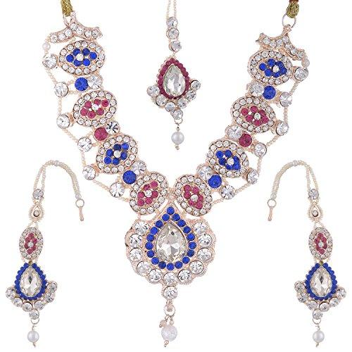 Bel-en-teno Blue & White Alloy Necklace Set For Women - B00PY9YN96