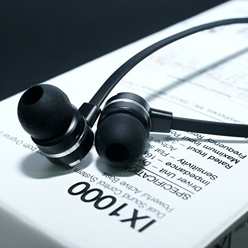 MUIX デュアルサウンド カナル型イヤホン IX1000 ブラック IX1000-BK