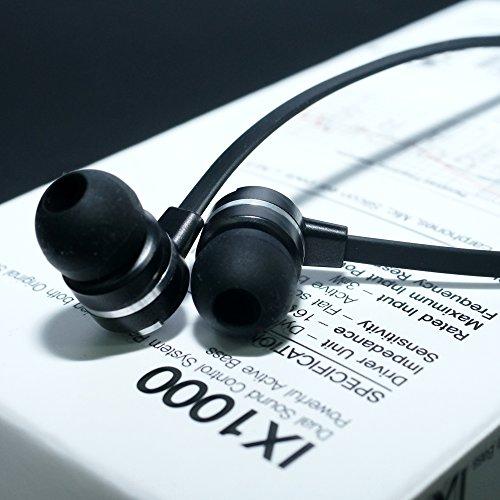MUIX デュアルサウンド イヤホン IX1000 ブラック IX1000-BK
