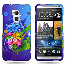 buy Coveron® Htc One Max T6 Protector Design Green Blue Floral Burst Case - With Pry Tool