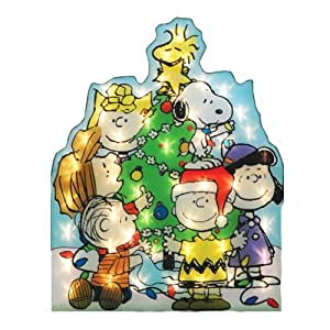 "32"" Lighted Peanuts Snoopy & Gang Decorating Tree Christmas Yard Art Decoration"
