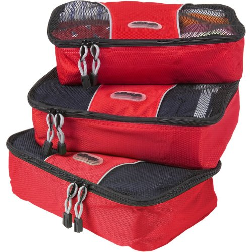 eBags Small Packing Cubes - 3pc Set (Raspberry)