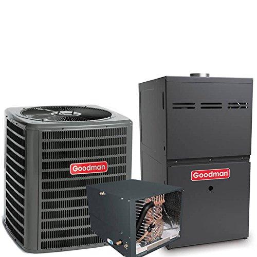 1.5 Ton Goodman 14 SEER R410A 80% AFUE 40,000 BTU Horizontal Gas Furnace Split System (R410a Split System compare prices)