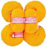 Vardhman Wool Balls (vardhman141 _ Pack Of 10, Yellow)