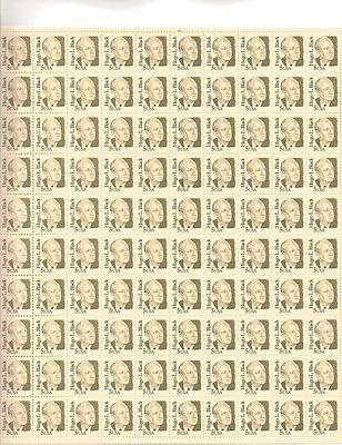 Hugo L. Black Sheet of 100 x 5 Cent US Postage Stamps NEW Scot 2172