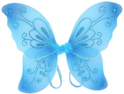 Cutie Collection Sparkling Fairy Costume Wings Select Costume, Blue - 1