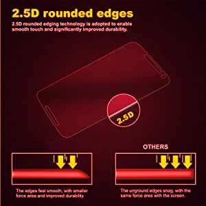 DRaX(TM) Micromax Canvas 4 Plus A315 Round Curved 2.5D Edge 9H Hardness Toughened Tempered Glass Screen Guard Protector