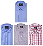 Rico Sordi Men's Cotton Shirts - Combo of 4 _RSD813_Multi Color_M