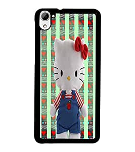 PrintDhaba Kitty D-5977 Back Case Cover for HTC DESIRE 826 (Multi-Coloured)